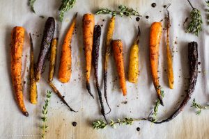 Honey and Balsamic Roasted Heirloom Carrots