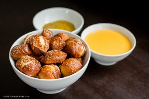 Soft Pretzel Bites with Cheese