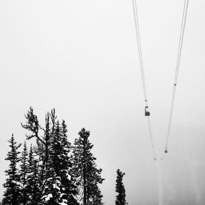 Peak 2 Peak Gondola in the Fog