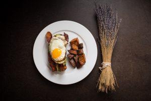 Bacon Avocado and Egg on Toast