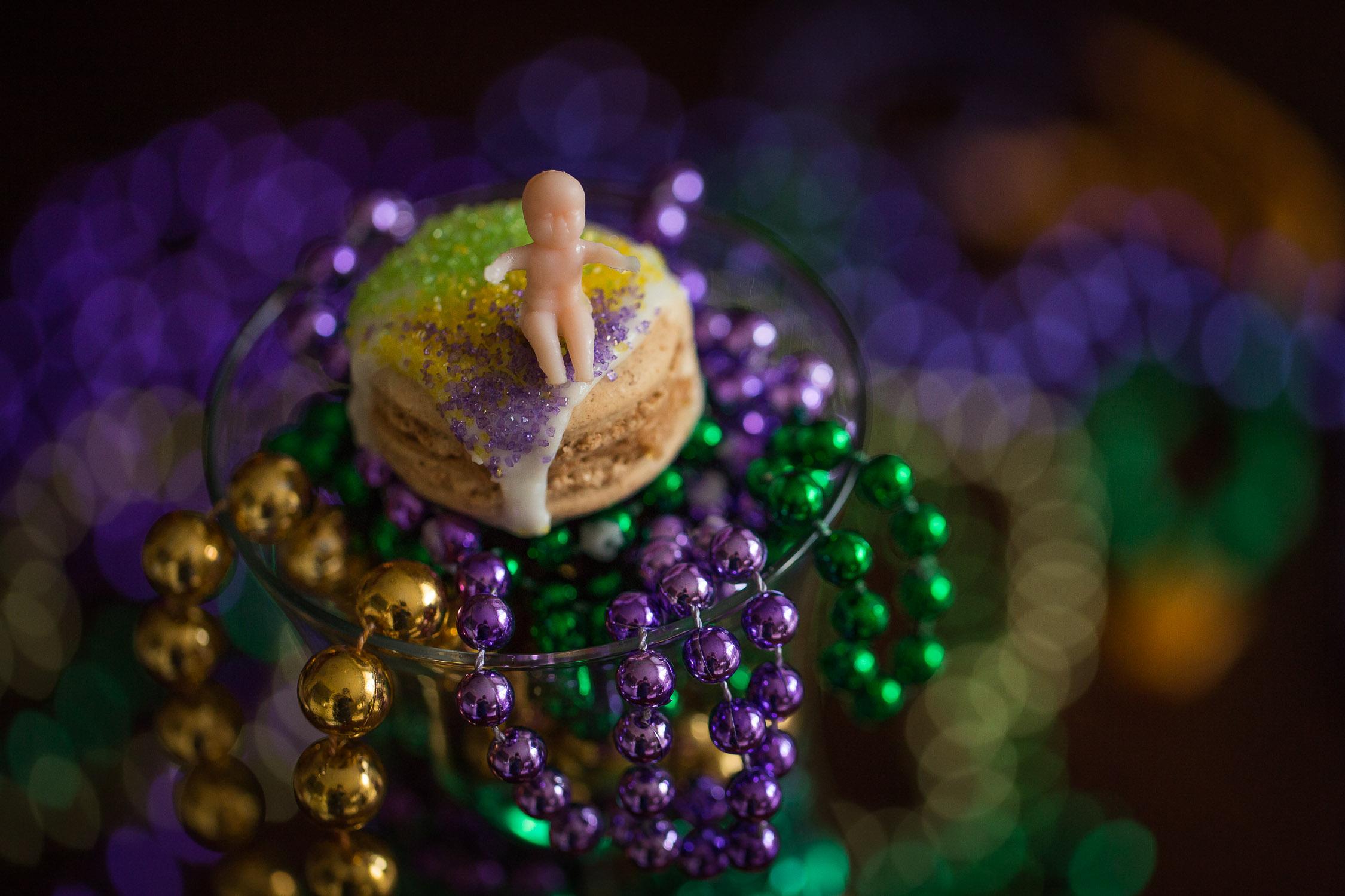 King Cake Macaron Recipe For Mardi Gras Justin Hankins